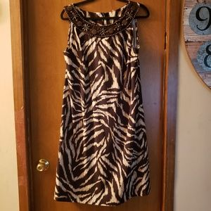 New w/o tag Brown and cream dress barn dress